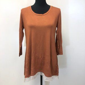 LOGO by Lori Goldstein Color-Block Knit Top with L